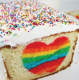 Rainbow Heart Surprise-Inside Cake