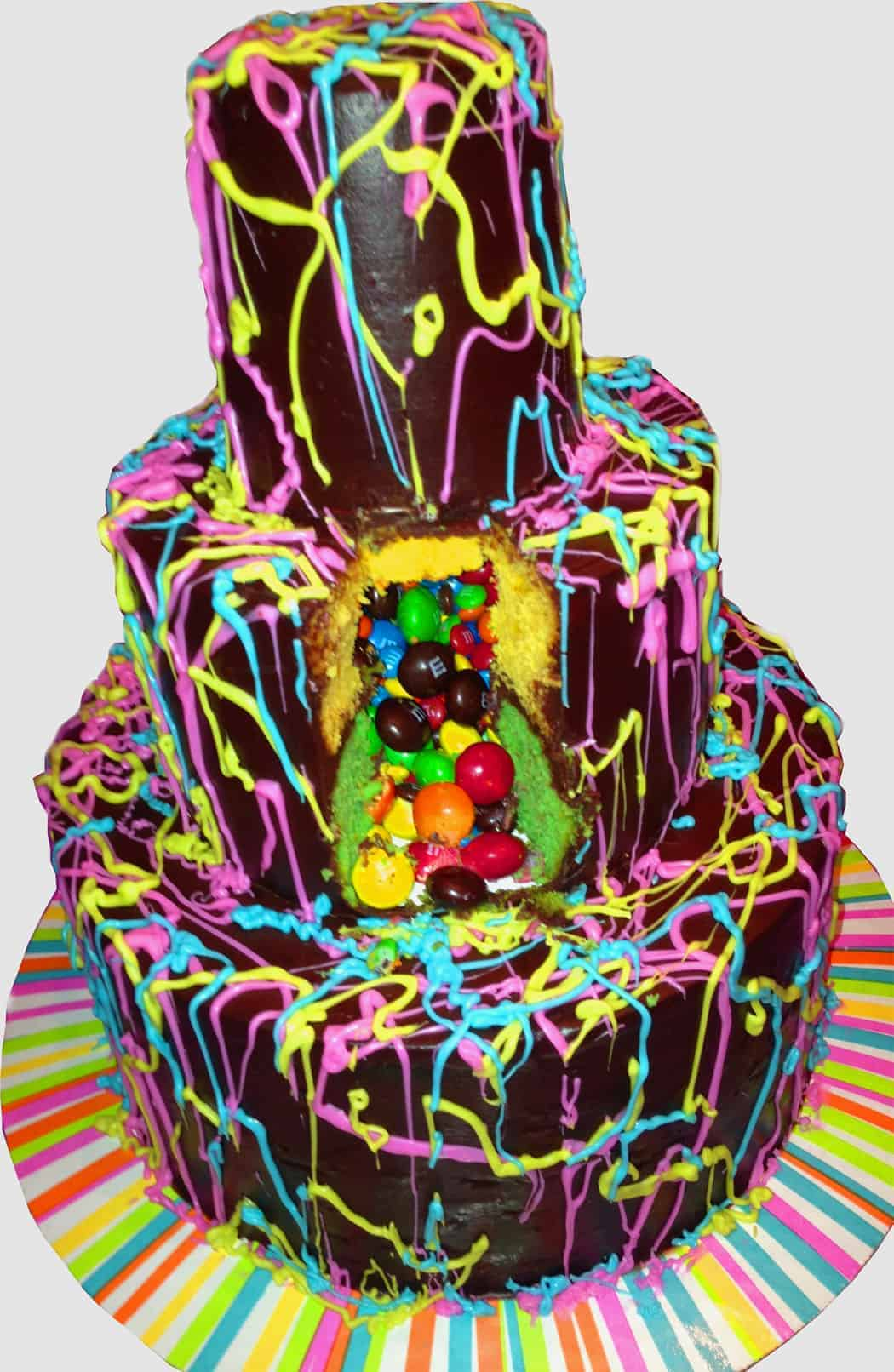 Jackson Pollock Piata Cake Mom Loves Baking