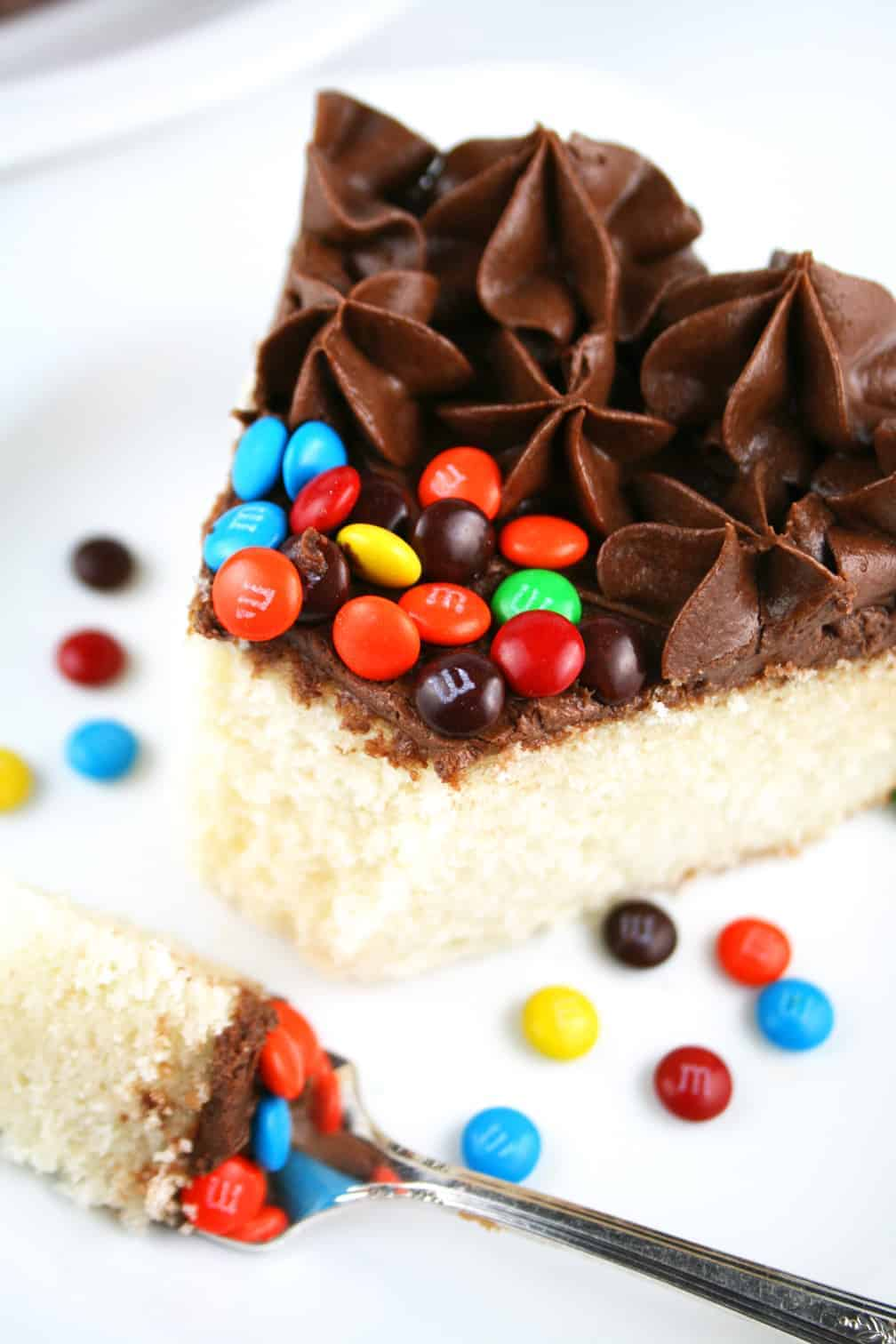 Perfect Vanilla Cake with The Best Chocolate Frosting Ever! - Mom ...