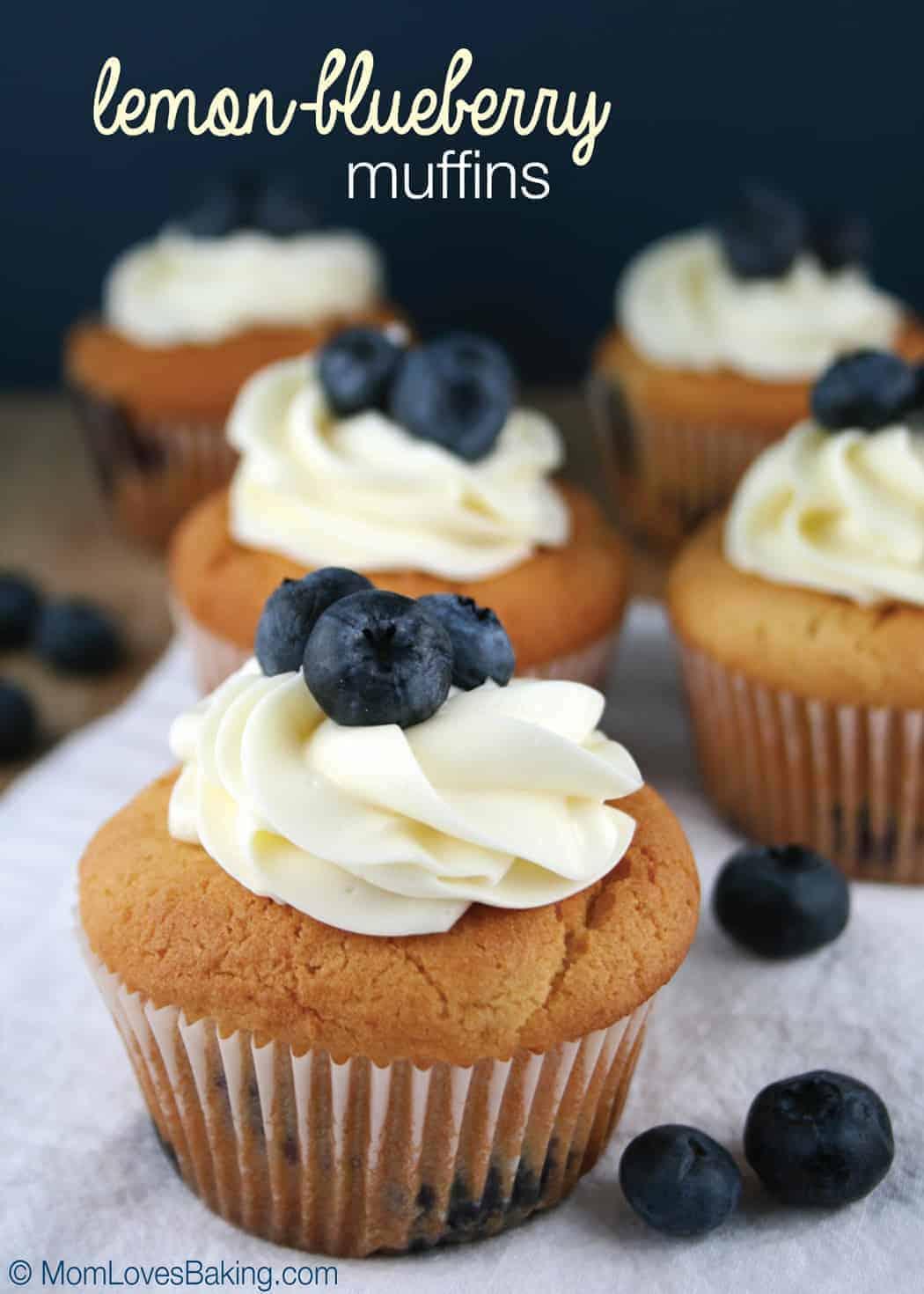 Lemon-Blueberry Muffins - Mom Loves Baking