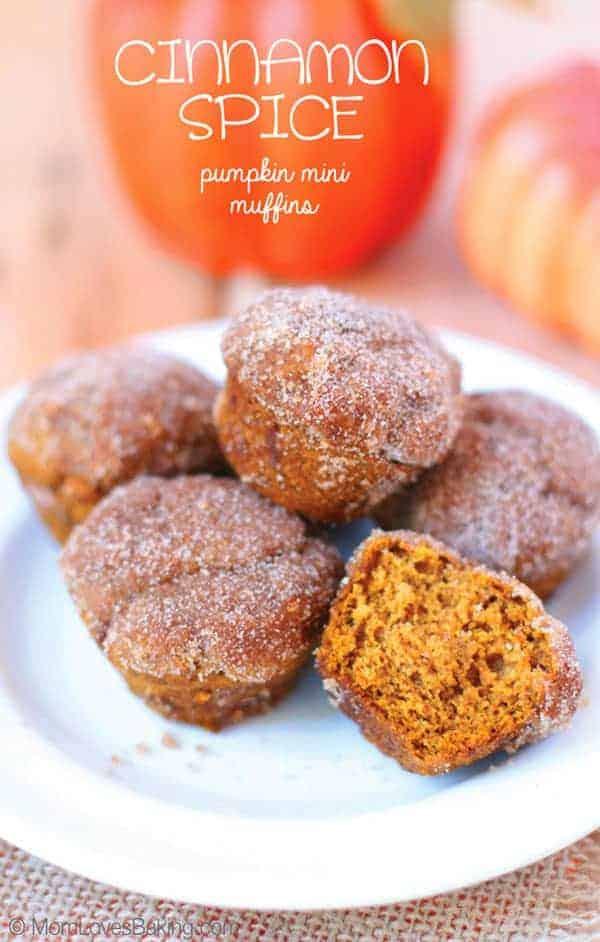Cinnamon Spice Pumpkin Mini Muffins