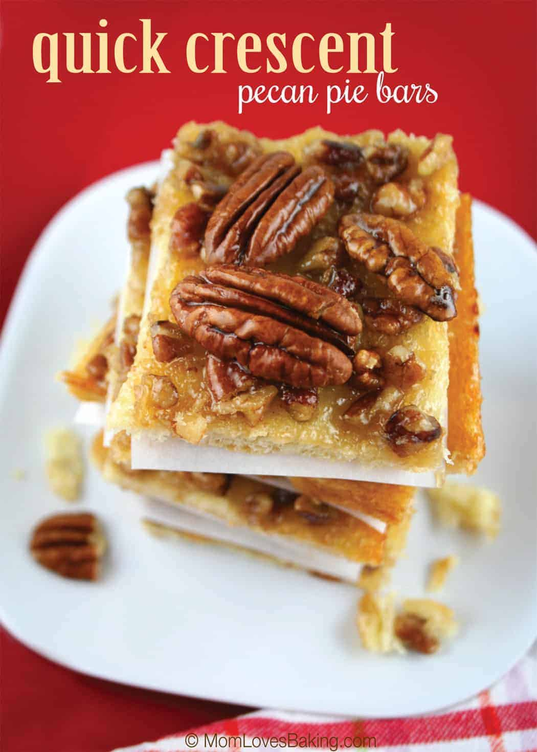 quick crescent pecan pie bars was one of 2 winners of the pillsbury ...