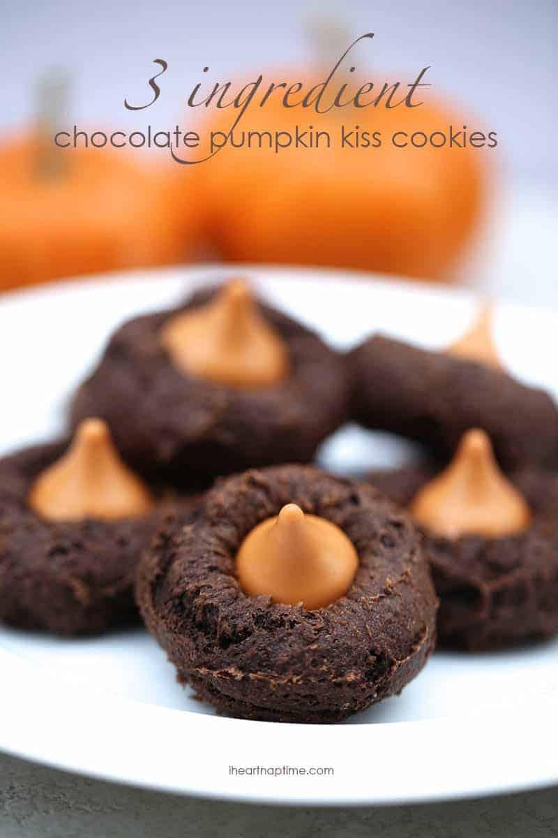 chocolate-pumpkin-kiss-cookies-recipe