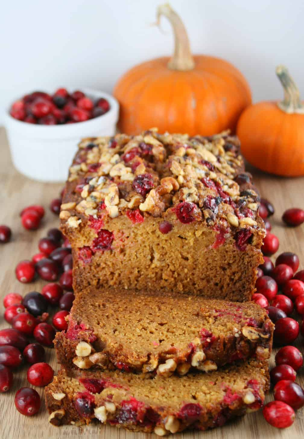 Lowfat Cranberry Pumpkin Bread - Mom Loves Baking