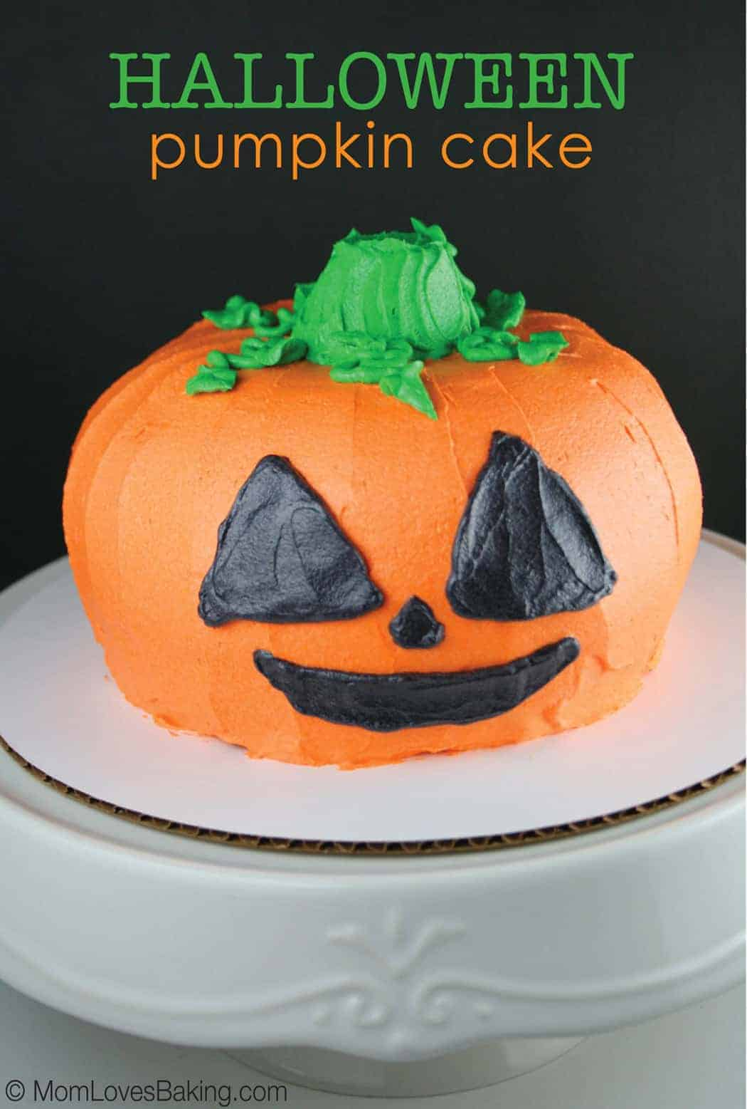 Halloween pumpkin cake mom loves baking for Easy halloween cakes to make at home