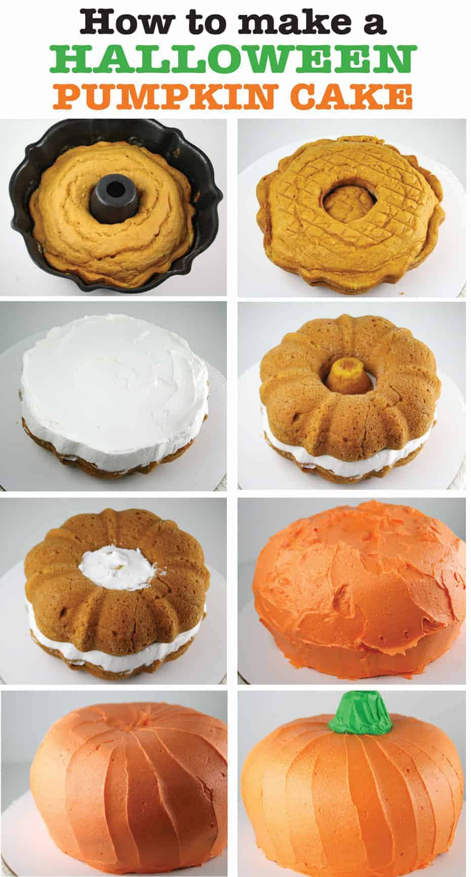 How To Make A Pumpkin Shaped Cake With Cupcakes