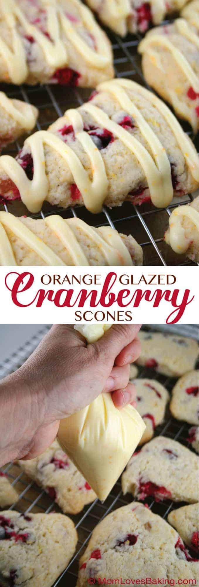 Orange Glazed Cranberry Scones | Mom Loves BakingMom Loves Baking