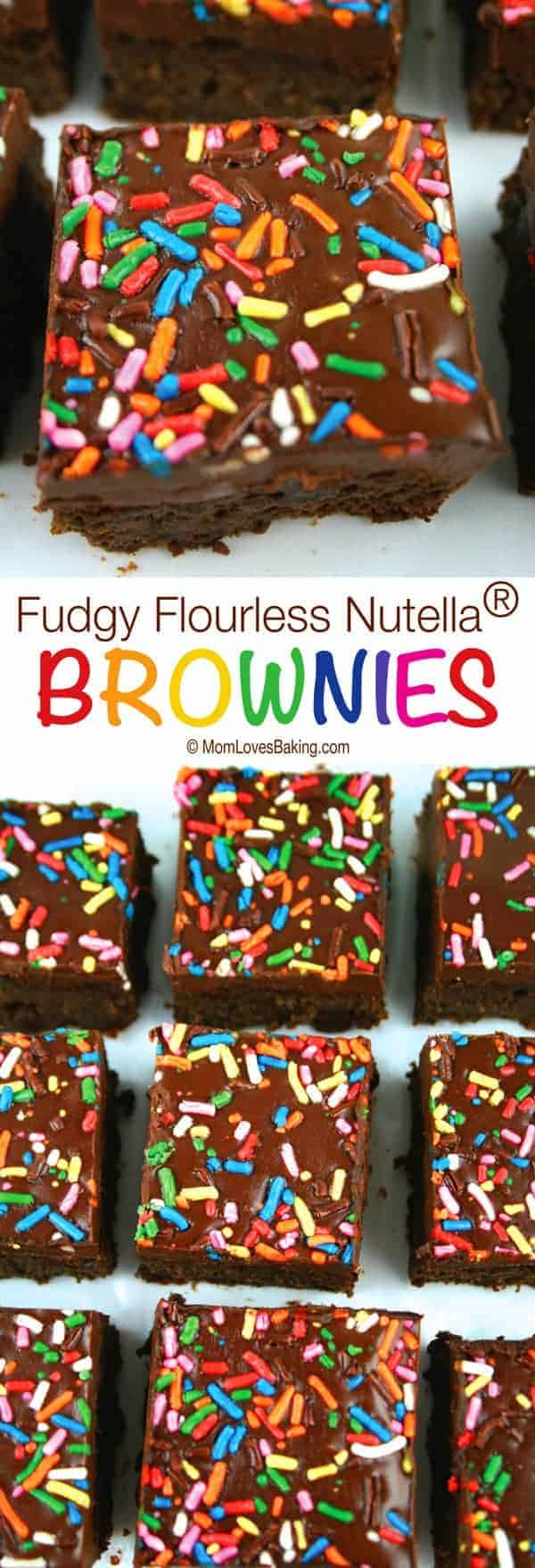 Fudgy Flourless Nutella Brownies