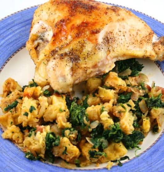 Are you ready to get stuffed like a turkey with the best gluten free southern cornbread stuffing? This cornbread stuffing, or as Southerners call it dressing, is a version of my grandmother's beloved recipe.