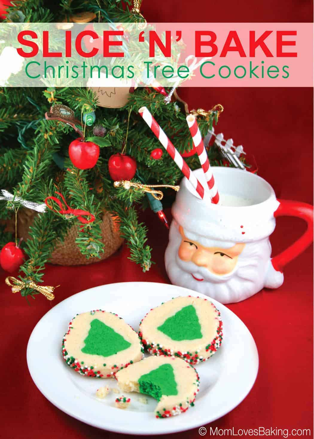 Slice N Bake Christmas Tree Cookies