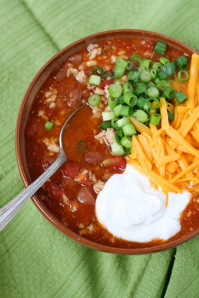 3 Ingredient Chicken chili easy recipe football food