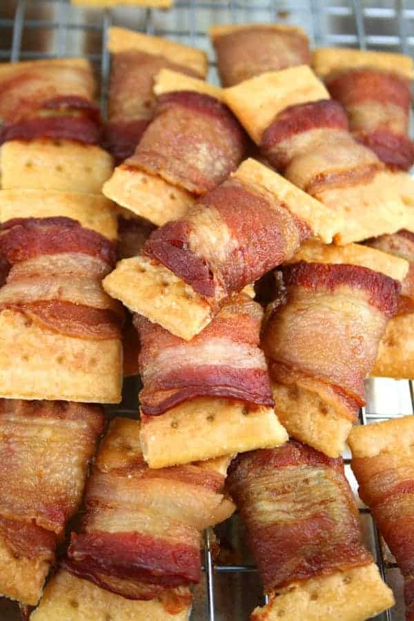 Bacon-Wrapped-Crackers-Pile
