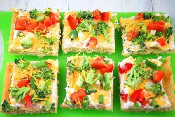 Cold Veggie Pizza Appetizer 4
