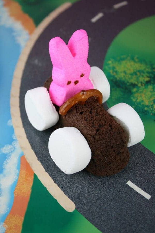 Chocolate Easter Bunny Race Cars - Mom Loves Baking