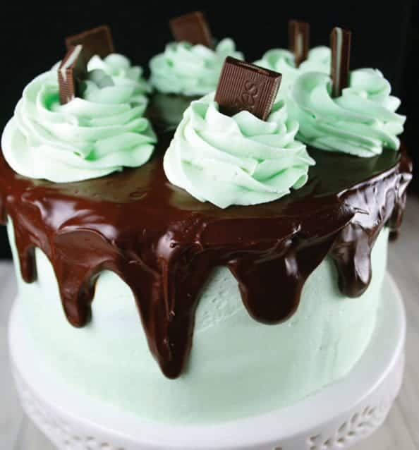 Flourless Chocolate Mint Layer Cake Mom Loves Baking