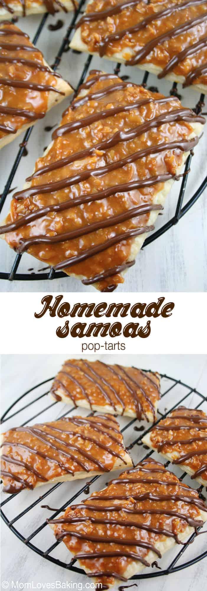 Homemade Samoas Poptarts