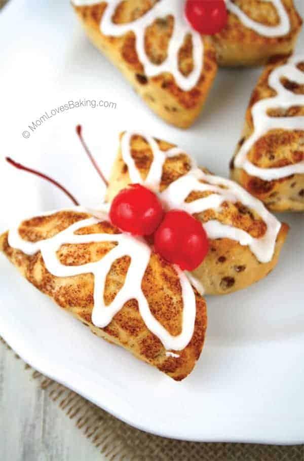 Cinnamon-Roll-Butterflies-On-Plate