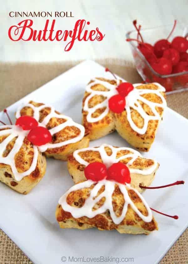 Cinnamon-Roll-Butterflies-With-Cherries