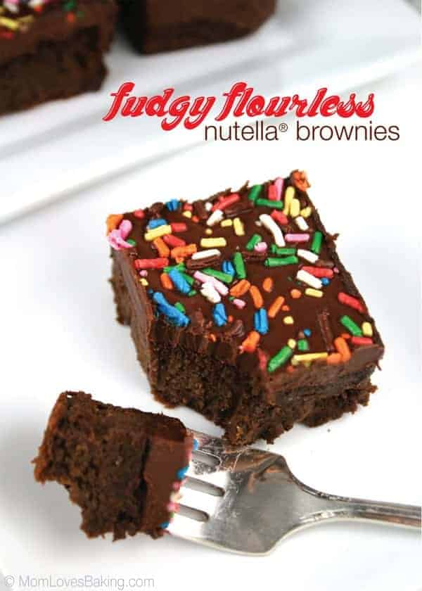 Fudgy-Flourless-Nutella-Brownies