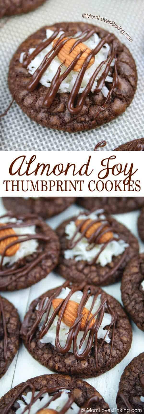 Almond Joy Thumbprint Cookies