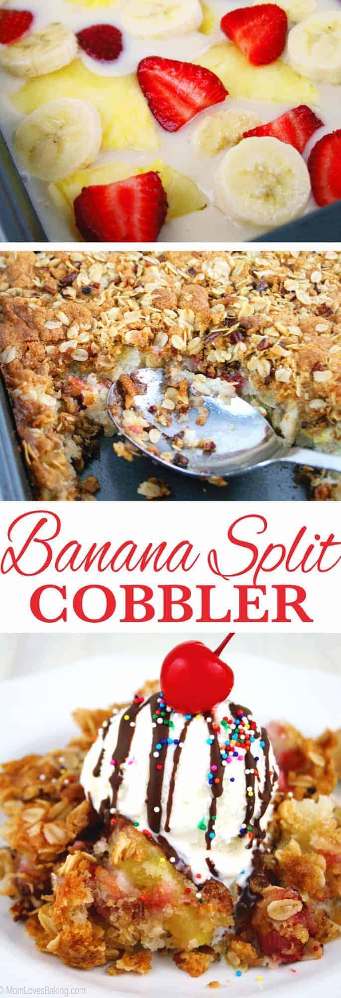 Banana Split Cobbler