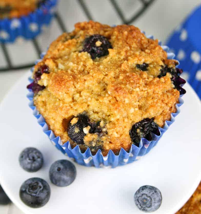 Orange Blueberry Gluten Free Muffins - Mom Loves Baking
