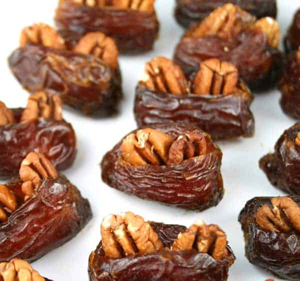 Pecan Stuffed Dates - Mom Loves Baking