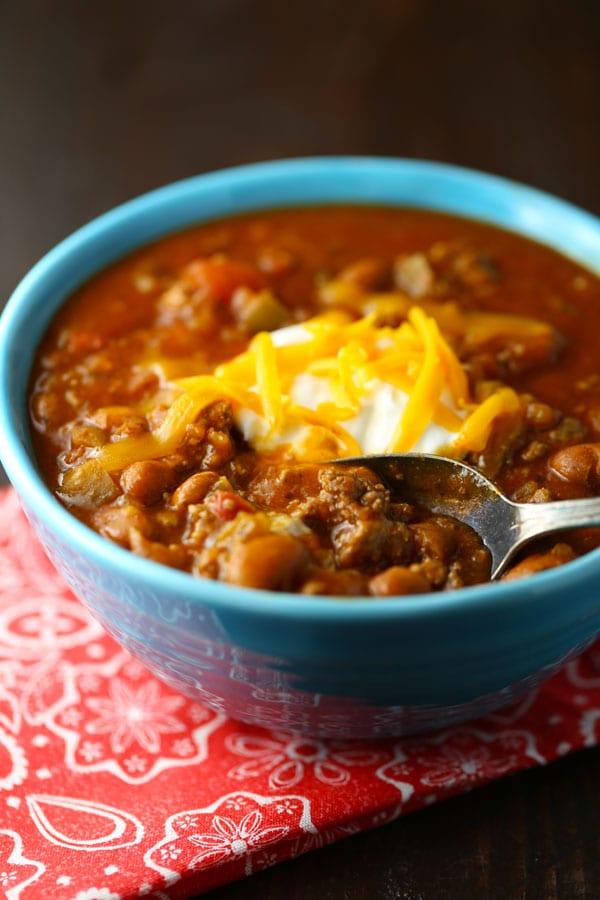 Quick easy chili recipe