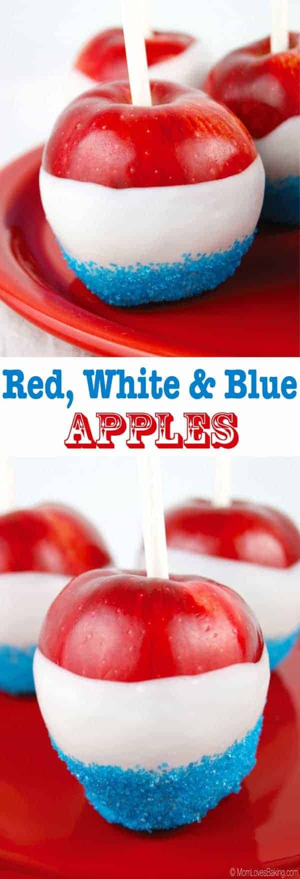 Red White and Blue Apples