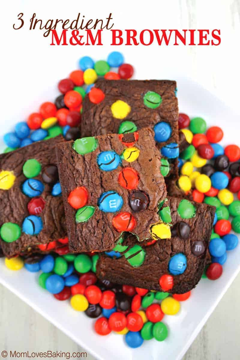 3 Ingredient M Amp M Brownies Mom Loves Baking