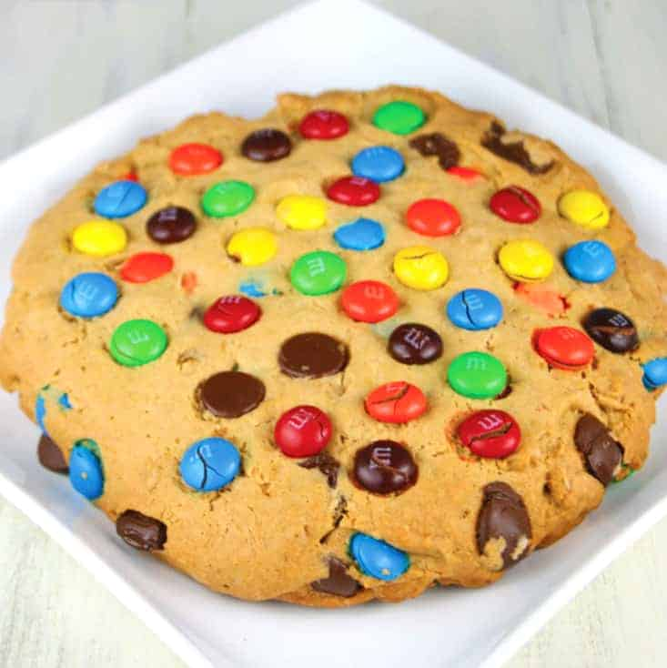 Giant M&M Cookie - Mom Loves Baking