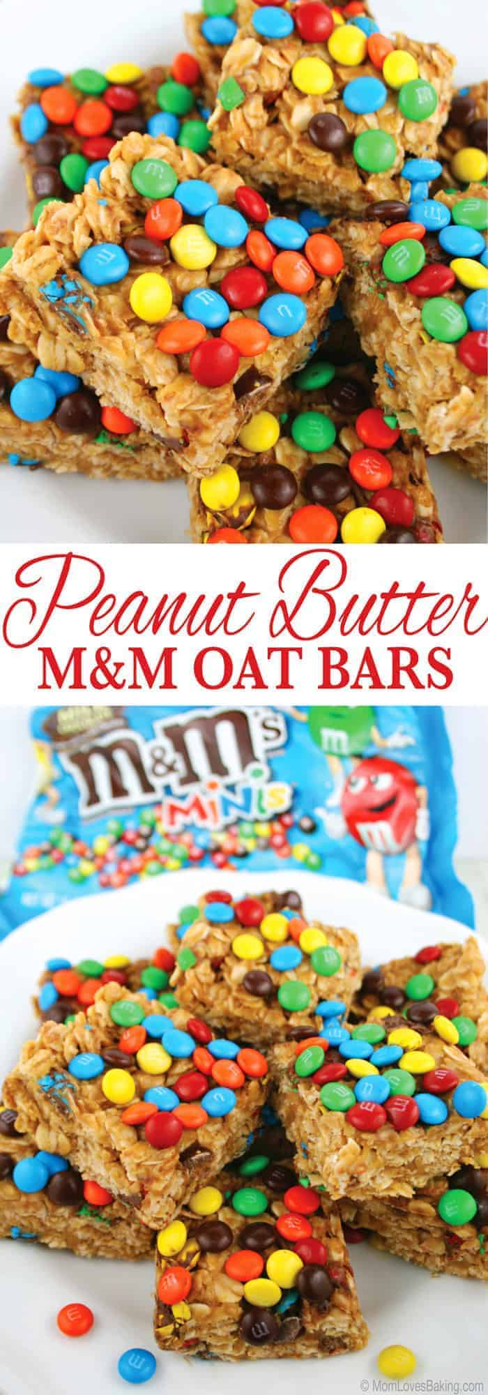 Peanut Butter M&M Oat Bars