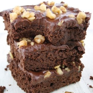 Frosted Brownies With Walnuts