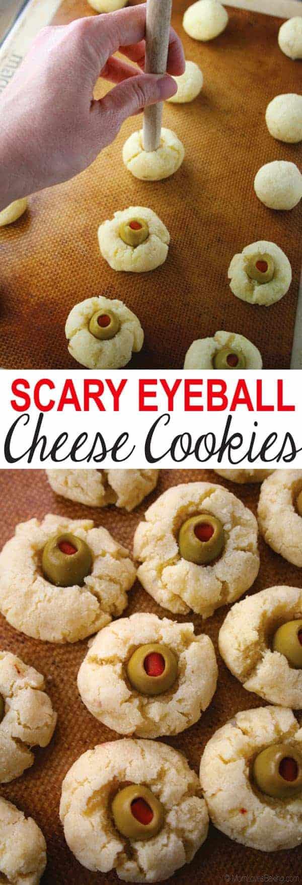 Scary Eyeball Cheese Cookies