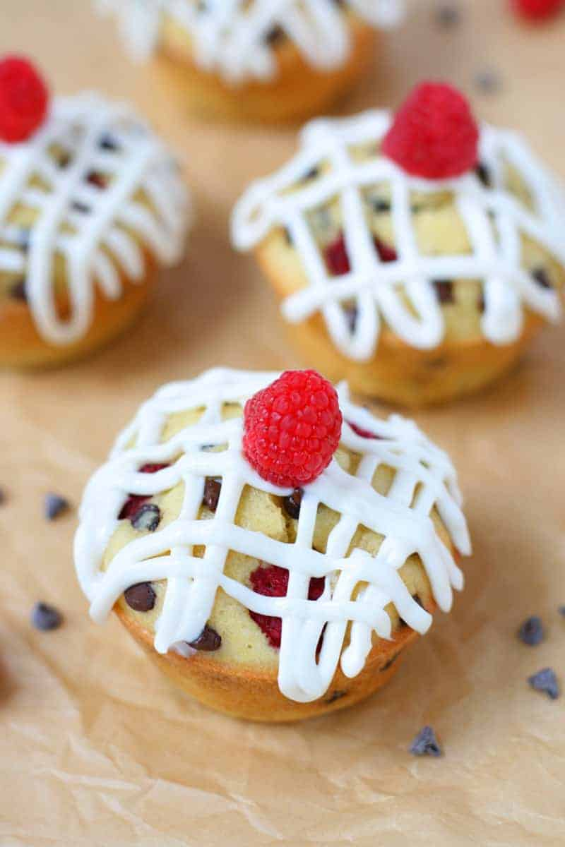 frosted-chocolate-raspberry-muffins