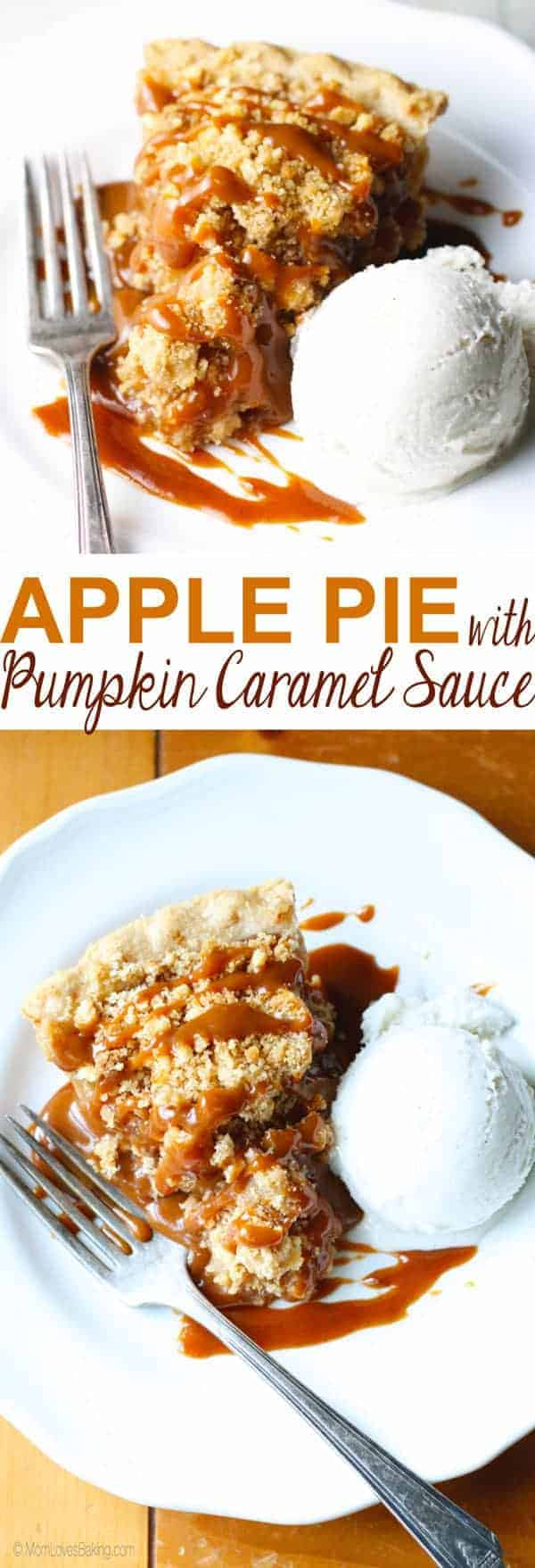 Apple Pie with Caramel Sauce