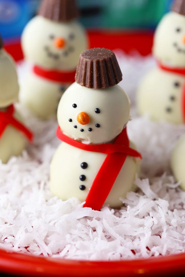Easy snowman oreo cookie balls