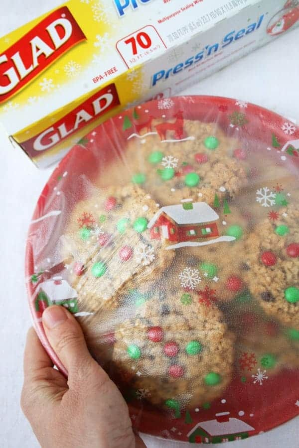 Christmas M&M Monster Cookies