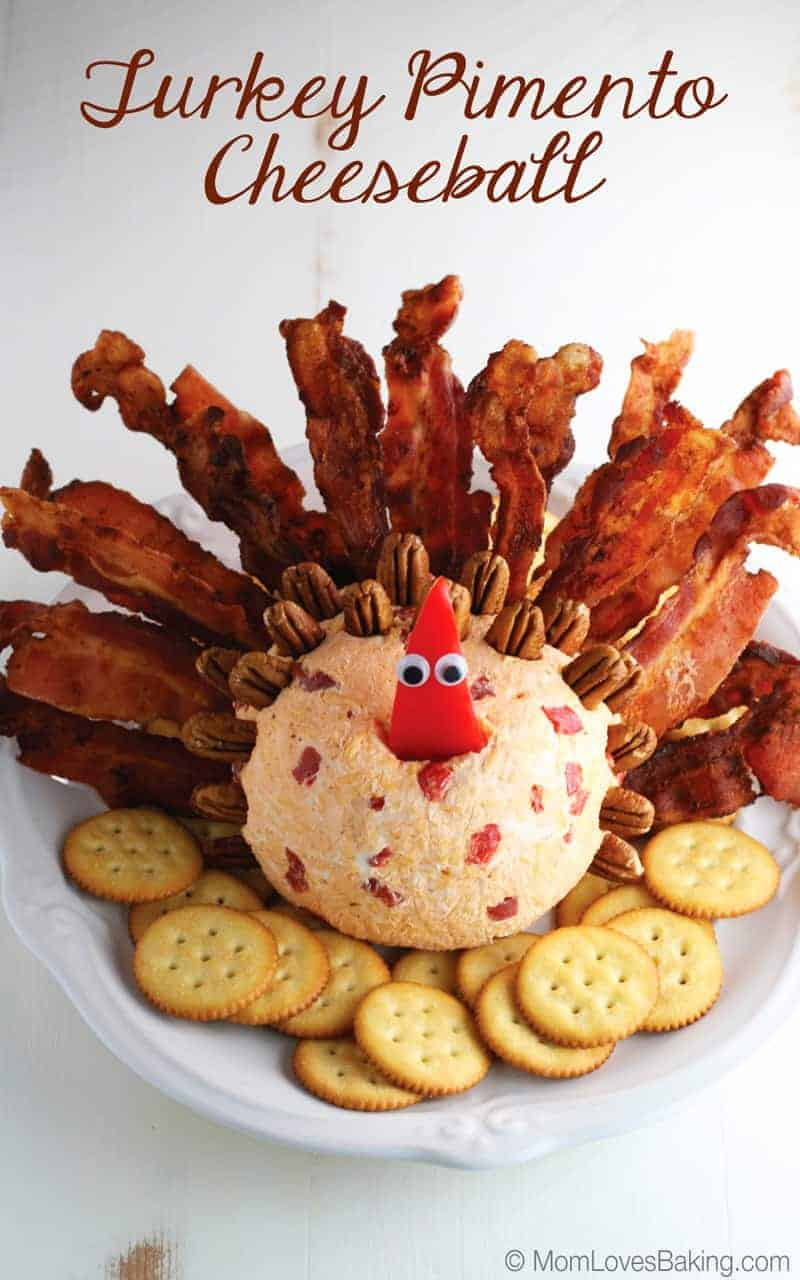 Turkey Cheese Ball-Turkey Cheese Ball-This Goat Cheese, Cranberry and Pecan Cheese Ball is incredibly festive and full of flavors perfect for a Thanksgiving or Christmas appetizer. If you are looking for a way to impress your guests, or get the kids involved in making dinner, this cheese ball fits the bill.