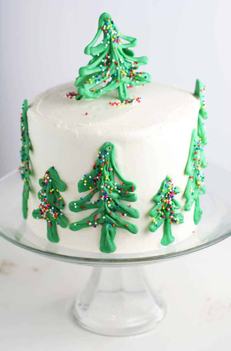 Chocolate Christmas Tree Cake - Mom Loves Baking