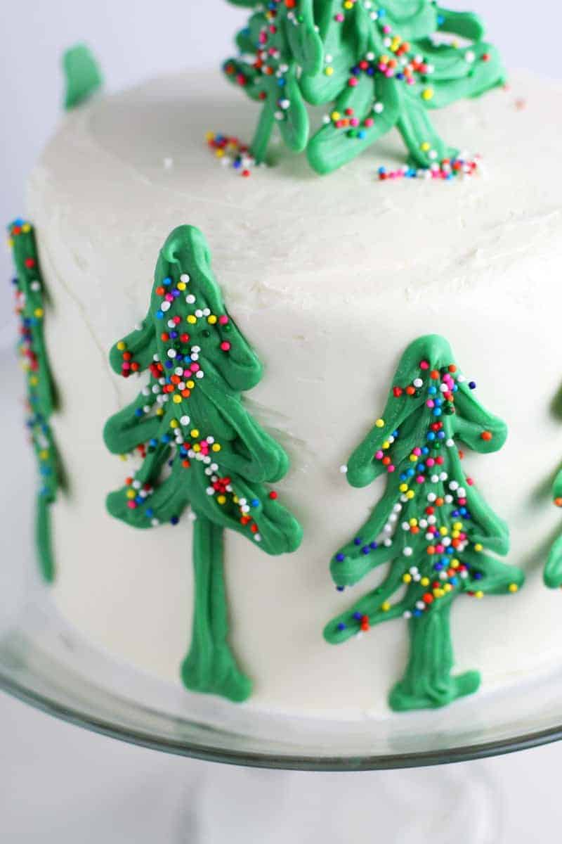 How To Make Icing Trees For Cake