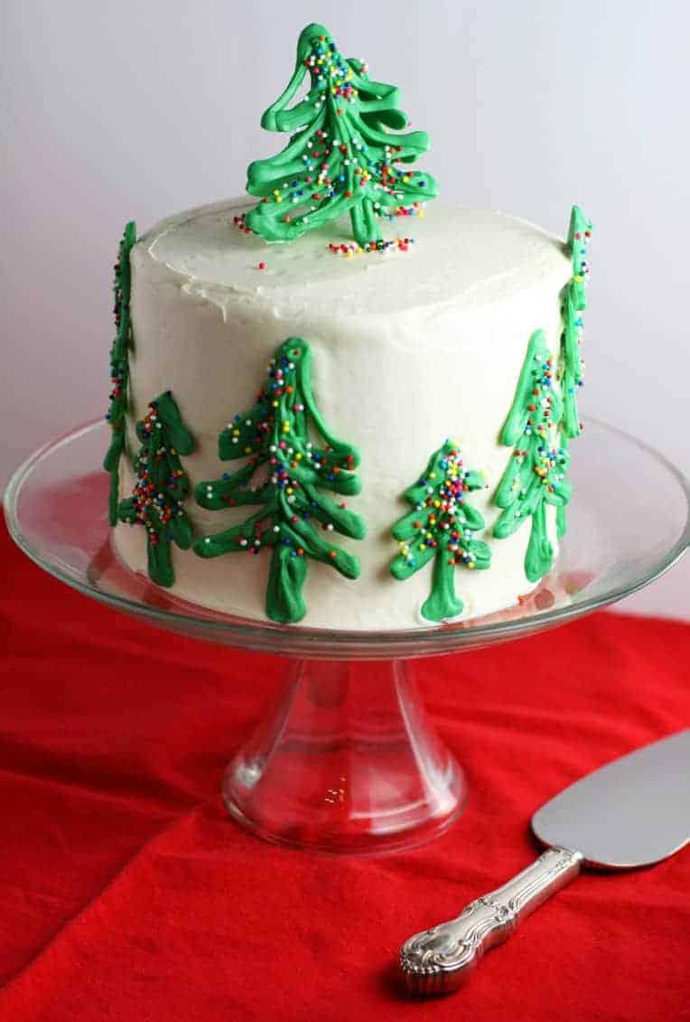 Chocolate Christmas Tree Cake