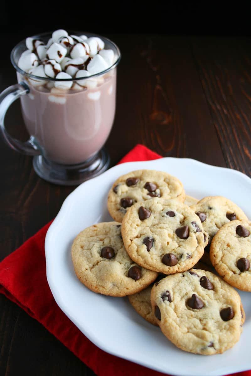 Hot Chocolate With Milk - Pumpkin Chocolate Chip Cookies