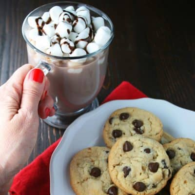 Easy Hot Chocolate and the perfect Chocolate Chip Cookies