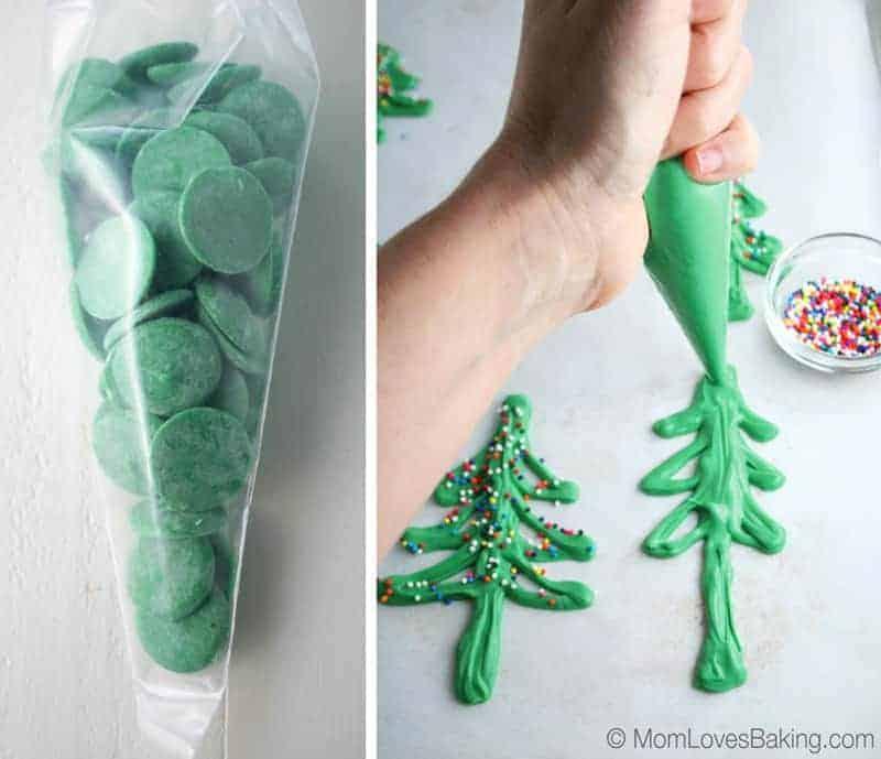 How to make chocolate Christmas trees
