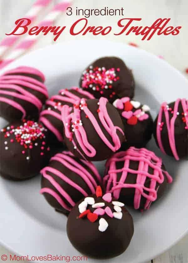 3-Ingredient Berry Oreo Truffles