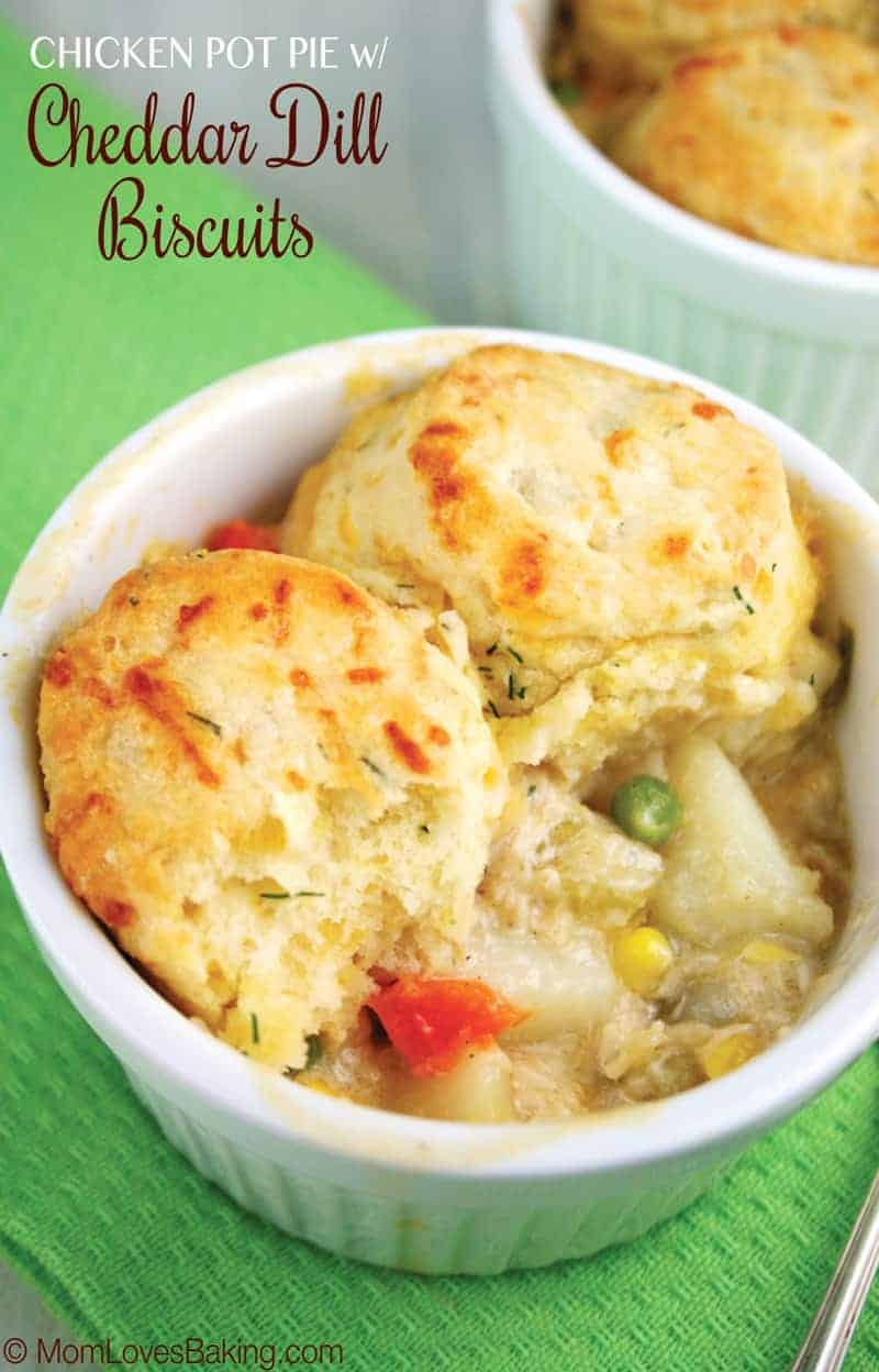 Chicken Pot Pie with Cheddar Dill Biscuits