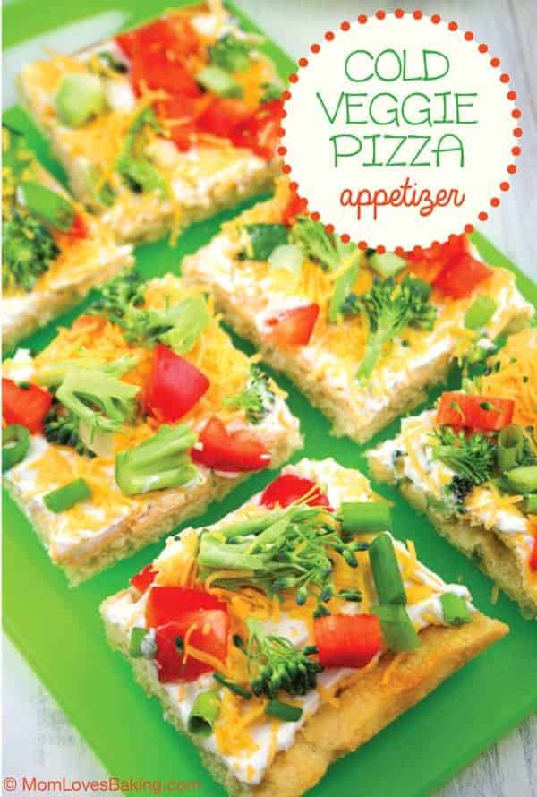 Cold Veggie Pizza Appetizer