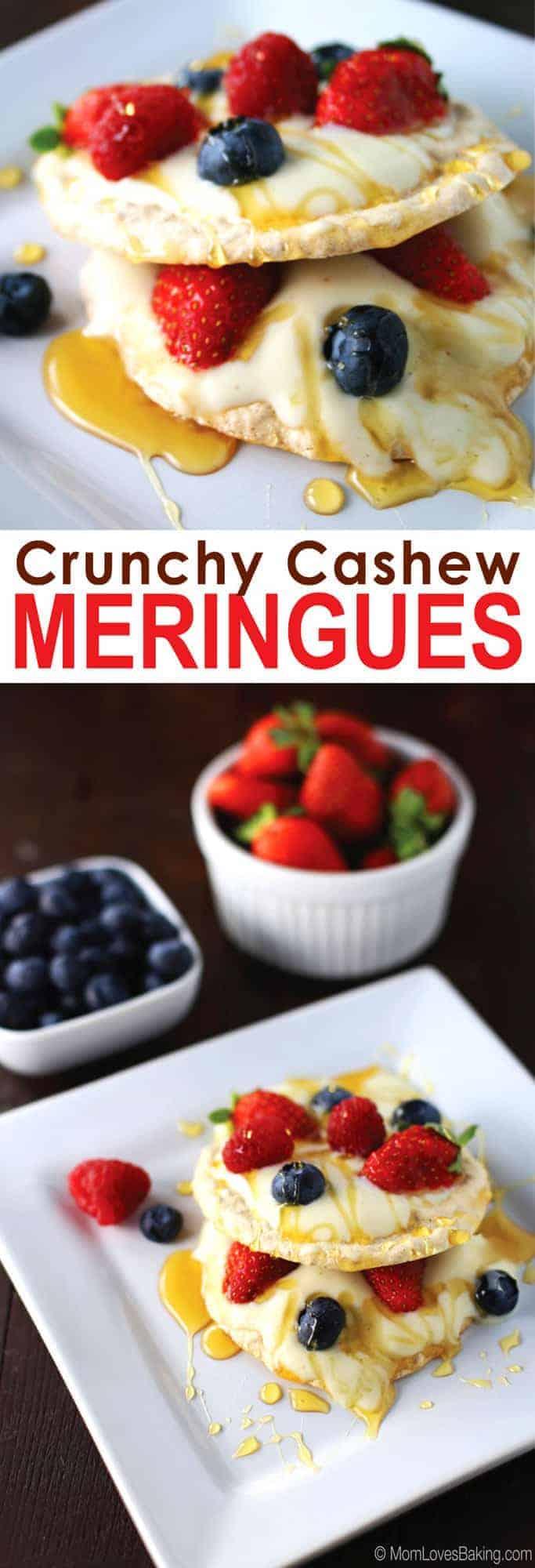 Crunchy Cashew Meringues
