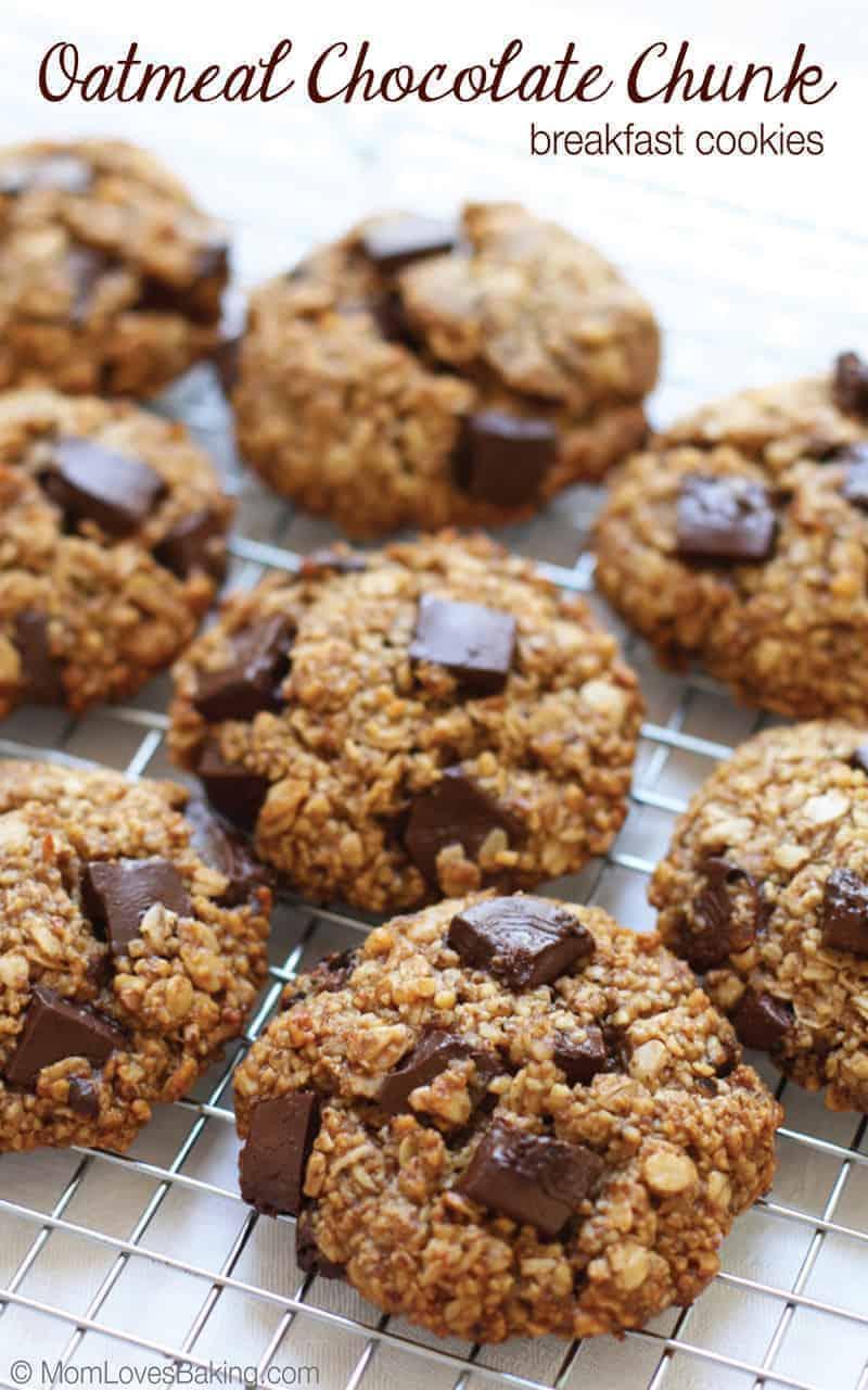 Oatmeal Chocolate Chunk Breakfast Cookies